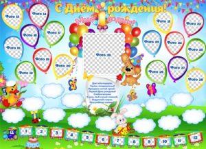 Бумажные баннеры, плакат детям на день рождения из бумаги