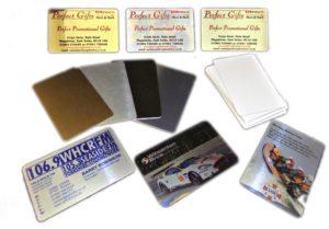 Визитки алюминиевые на заказ, тираж с макетом