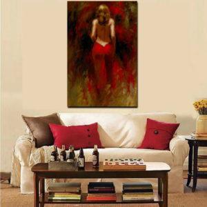 Женские образы - печать картин на холсте