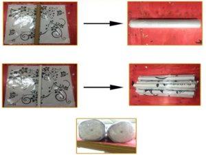 Накатка монтажной плёнки и упаковка