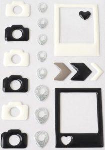 Объемные наклейки с отверстиями внутри