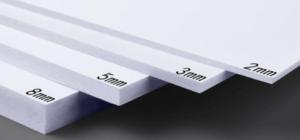 Пластик 2 мм, полистирол 3 мм, ПВХ 5 мм для табличек
