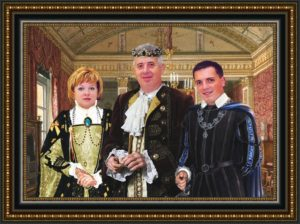 Семейный портрет на холсте по фотографии