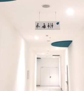 Таблички подвесные с обозначением туалета