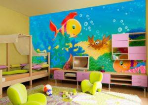 Фотообои для детской комнаты их безвредность