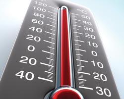 правильная температура градусника при установке в тени