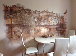 Фотообои для кухни в Москве
