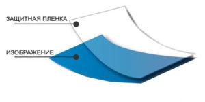 Защитная плёнка и изображение