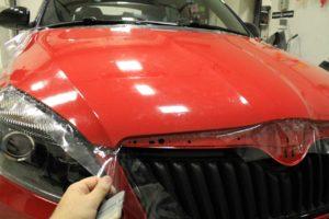 Покрытие плёнкой для защиты автомобиля