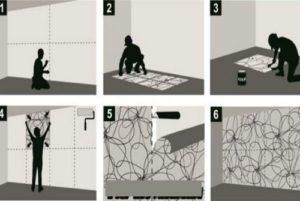 Как клеить фотообои