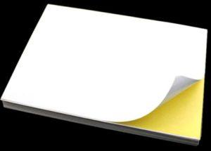 Печать на мелованной бумаге с клеем
