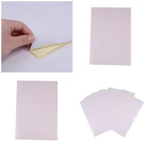 Разновидности бумаги-самоклейки