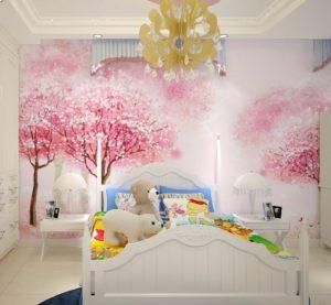 Фотообои красивые - деревья сакуры