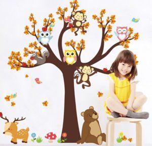 Аппликация наклейки для стены детской