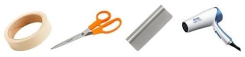Инструменты для монтажа самоклеющейся плёнки