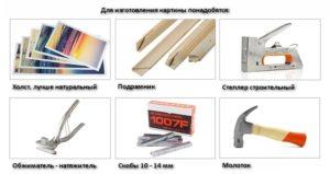 Инструменты для натяжки холста на подрамник