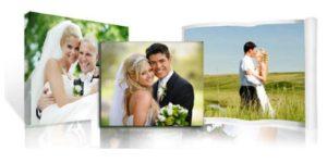 Печать фото со свадьбы на холсте