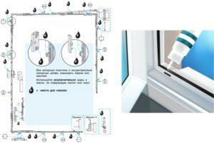 Наборы для ухода за окнами ПВХ - Средство для очистки профиля, ухода за уплотнителями и фурнитуры