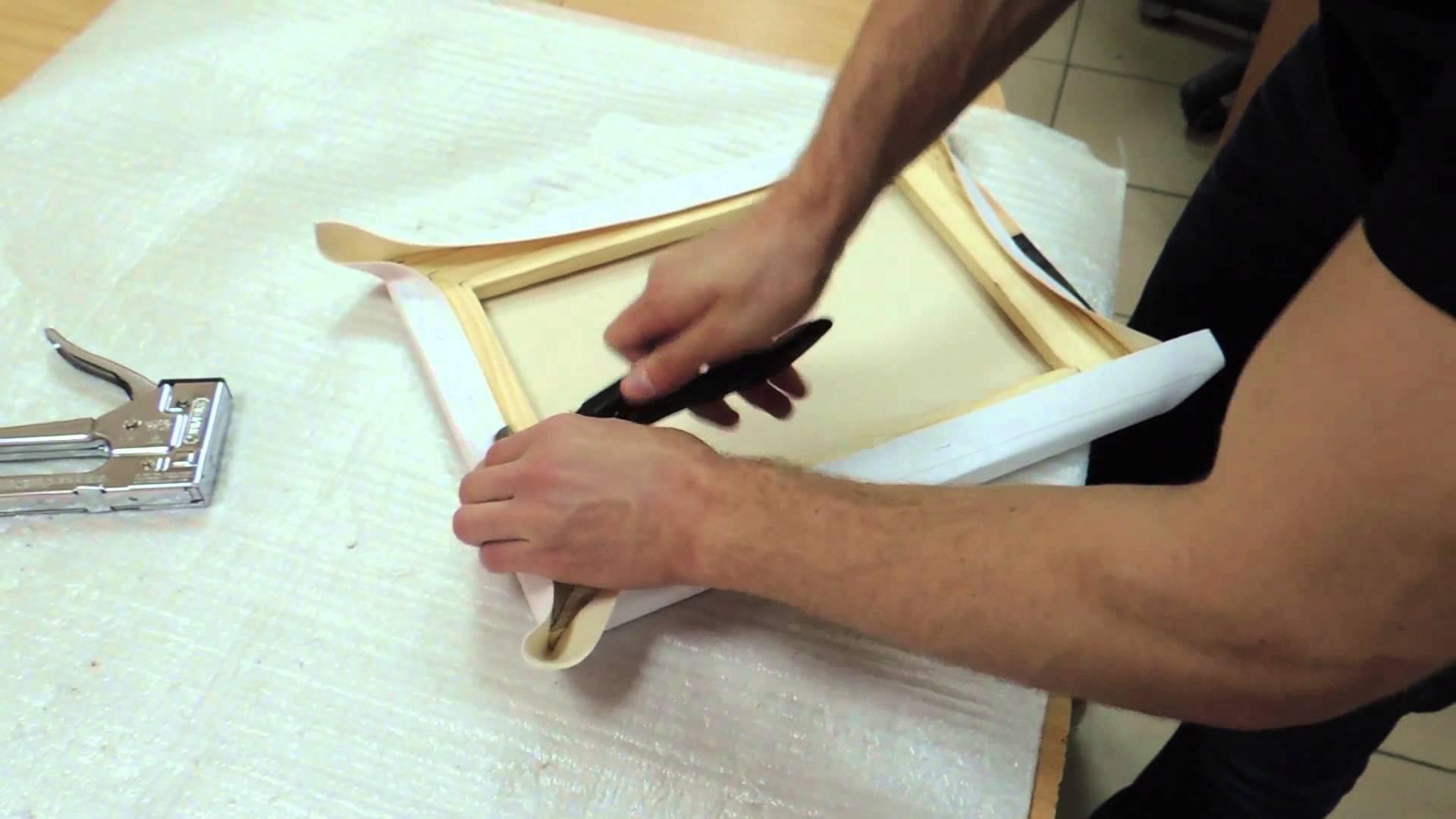 Печать на холсте с натяжкой на подрамник