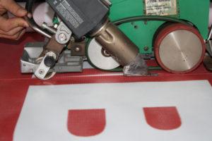 Склейка баннерного винила - большой размер из нескольких частей