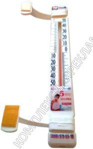 Объемные этикетки со смолой на термометре оконном
