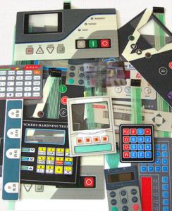 Шильдики на панель с кнопками - сенсорный переключатель