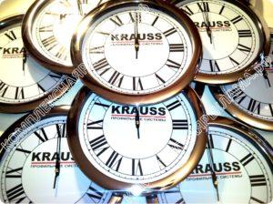 Сувенирная продукция - Часы с нанесением Краус, сувенир Krauss