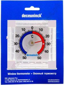 квадратный биметаллический градусник с логотипом