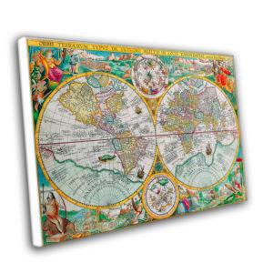 Настенная карта и её печать на бумаге