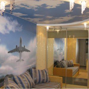 Печать фотообоев на стену, пол и потолок