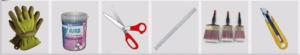 Инструменты для поклейки фотообоев на стену кухни