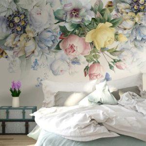 Флизелиновые фотообои в спальню на заказ